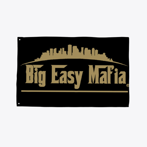 Big Easy Mafia Tailgate Flag Black T-Shirt Front
