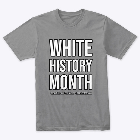 White History Month (W/ Black Outlines) Premium Heather T-Shirt Front