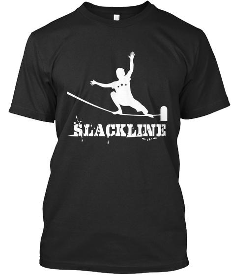 Slackline Black T-Shirt Front