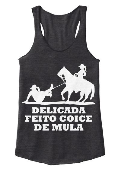 Delicada Feito Coice De Mula Eco Black T-Shirt Front