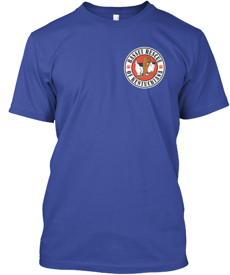 Basset Rescue Of Kentuckiana Deep Royal T-Shirt Front