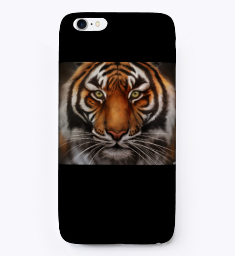 Tigerclawgames Iphone Case Black T-Shirt Front
