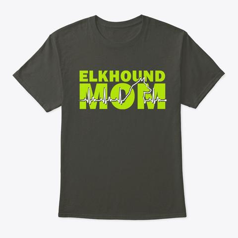 Elkhound Mom  Heart Beat Smoke Gray Maglietta Front