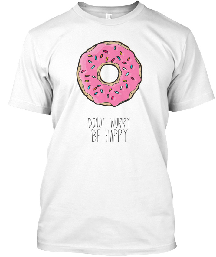 Details About Zonuts Don T Worry Be Happy Zoe Laverne Hanes Tagless Tee T Shirt