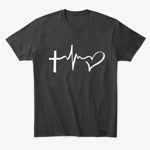 Evangélisation 1st   Tshirt Imprimé Noir Black T-Shirt Front