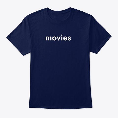 Movies T Shirt Navy T-Shirt Front