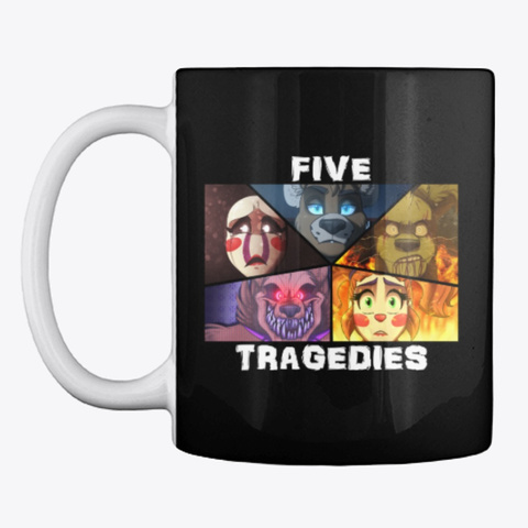 Five Tragedies Collage Stuff Black T-Shirt Front