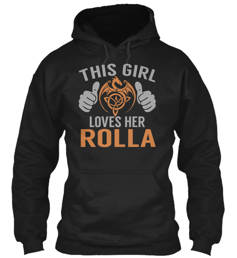 Loves Rolla   Name Shirts Black T-Shirt Front