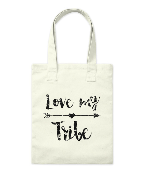 Mom's Tribe #Mothers Day2017 Natural Tote Bag Front
