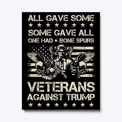 Anti Trump Veterans Dodger Cadet Bone Sp Black T-Shirt Front