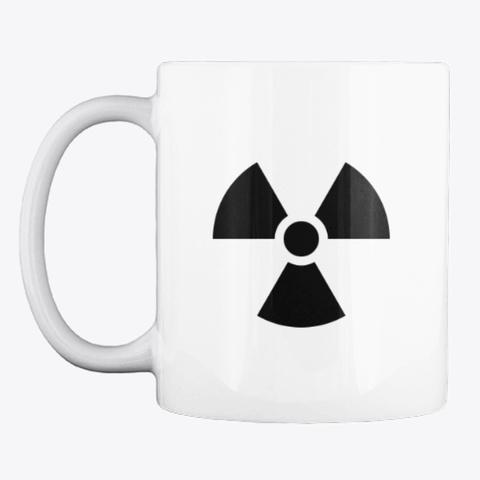Radiation Coffee Mug & Decal White T-Shirt Front