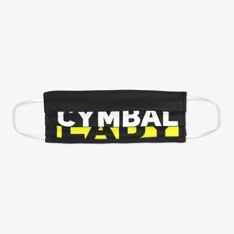 Cymbal Lady   Face Mask Black T-Shirt Flat