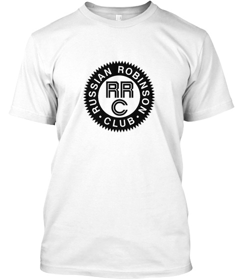 Russian Robinson Club T Shirt Ham Radio  White T-Shirt Front