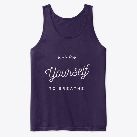 Allow Yourself To Breath Reboot. Team Purple T-Shirt Front