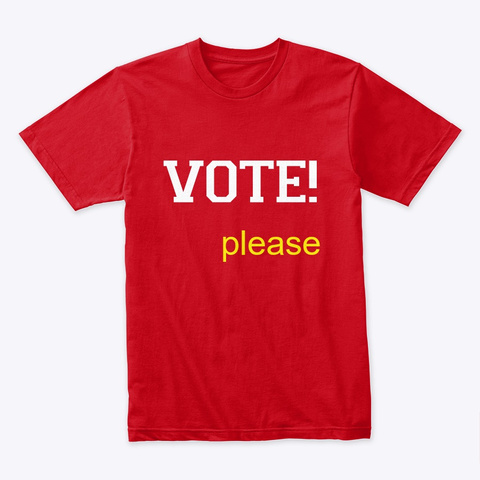 Vote Red T-Shirt Front