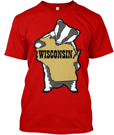 Wisconsin Classic Red T-Shirt Front