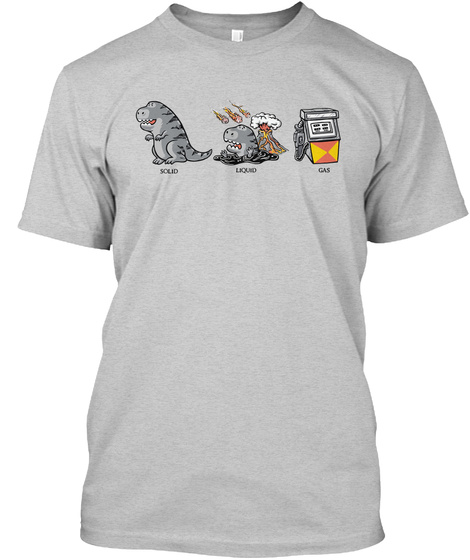 f3335c8f17 Solid liquid gas - dinosaur t shirt