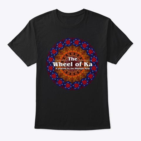 Wheel Of Ka Tee Black T-Shirt Front