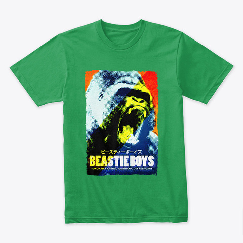 Beastie On Tour Kelly Green T-Shirt Front