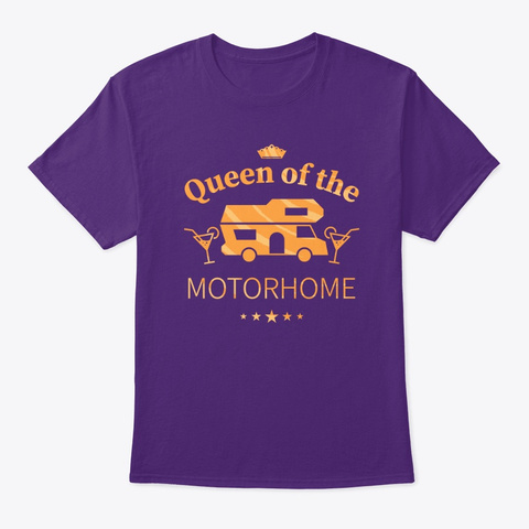 Queen Of The Motorhome   Gift For Wife  Purple T-Shirt Front
