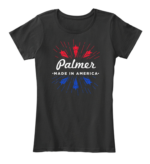 Palmer Made In America Black T-Shirt Front