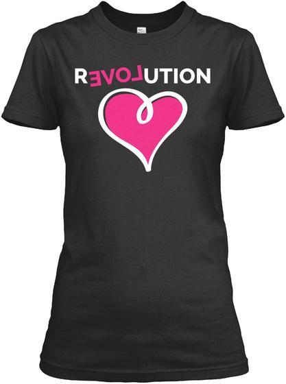 Love Revolution Black T-Shirt Front