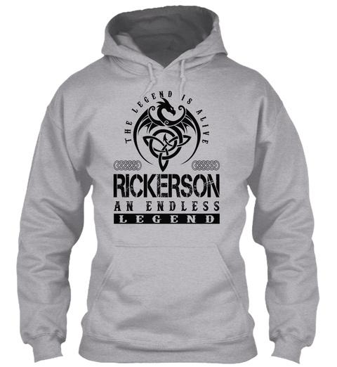 Rickerson   Legends Alive Sport Grey T-Shirt Front
