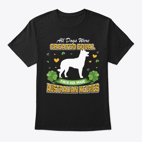 St Patricks Day Australian Kelpies Black T-Shirt Front