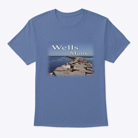 Wells Maine Jetty Denim Blue T-Shirt Front