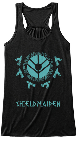 Shield Maiden Black Women's Tank Top Front