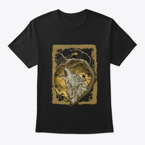 Viking Wolf Tee Black T-Shirt Front