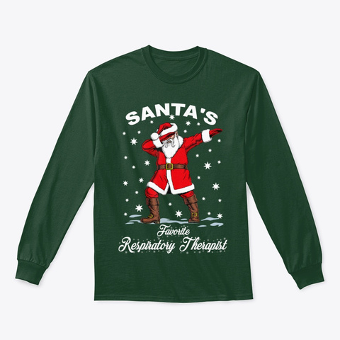Funny Dabbing Santa T Shirt Forest Green T-Shirt Front