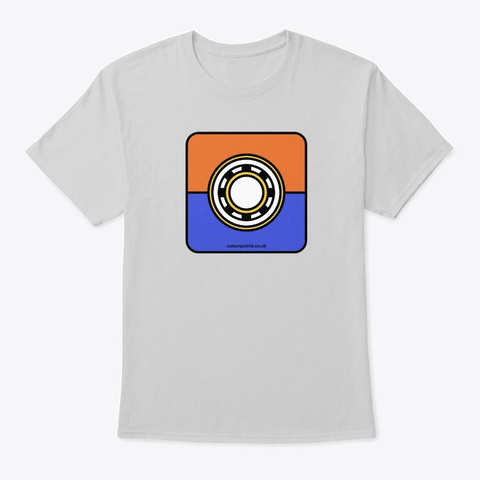 Wey Hill T Shirt By Colour Points Light Steel T-Shirt Front