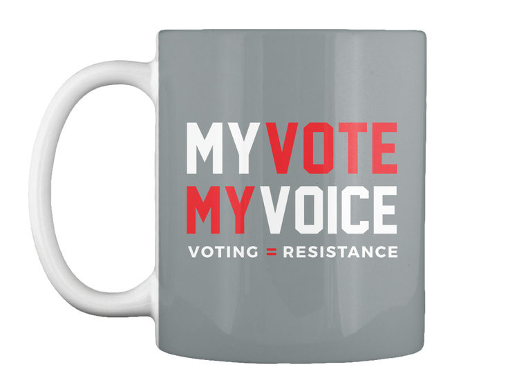3e69041c43b2 My Vote My Voice #Hearourvote - My vote my voice voting resistance Products  from Resistance Sign TShirts   Teespring