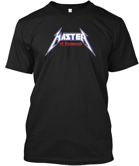Master Of Dungeons Black T-Shirt Front