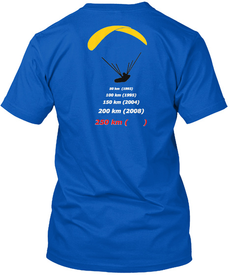The Norwegian Paragliding Evolution   Royal T-Shirt Back