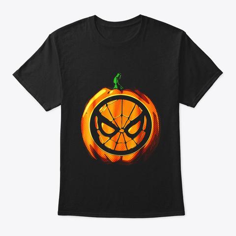 Man Halloween Pumpkin Black T-Shirt Front
