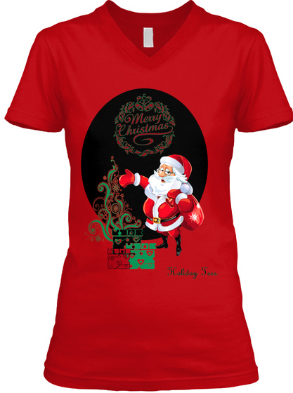 Holiday Tees Red T-Shirt Front