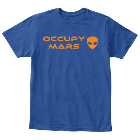 Occupy Mars   Kids Deep Royal  áo T-Shirt Front