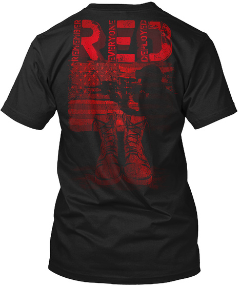 Read Remember Everyone Deployed Black T-Shirt Back