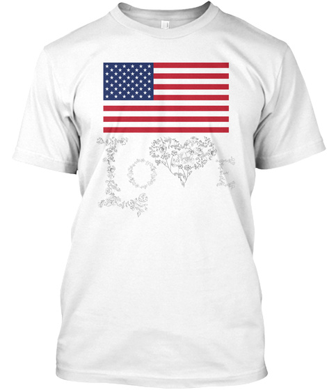 I Love Usa White T-Shirt Front