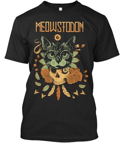 Meowstodon Black T-Shirt Front