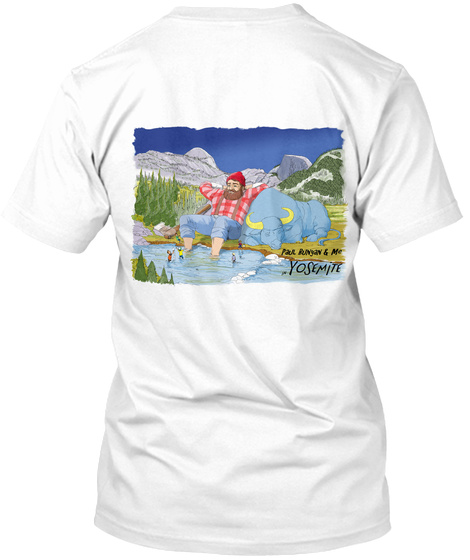 Yosemite White T-Shirt Back