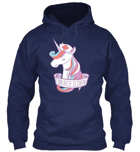 Unurseicorn Navy Sweatshirt Front