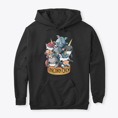 Unicorn   Unicorn Crew Black T-Shirt Front