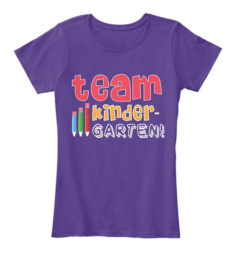 Team Kinder Garten Purple T-Shirt Front