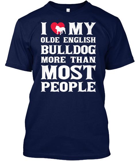 Olde English Bulldog Navy T-Shirt Front