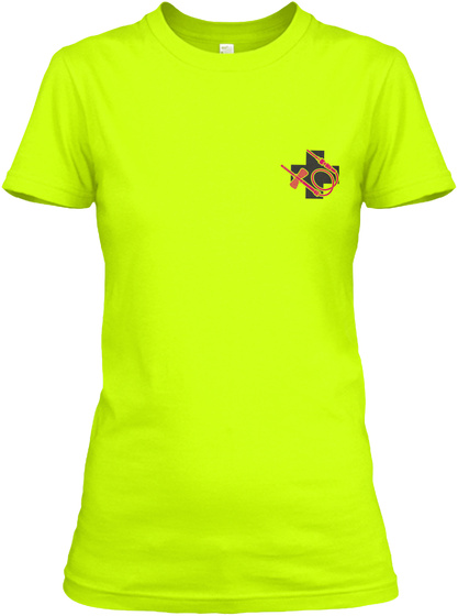 Awesome Phlebotomist Shirt Safety Green T-Shirt Front