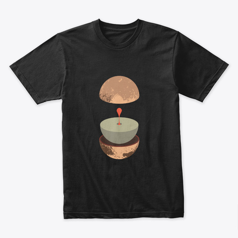 Layers: Pluto 🚀 #Sfsf Black T-Shirt Front