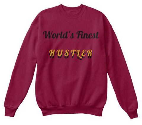 World's Finest H U S T L E R  H U S T L E R  Cardinal  T-Shirt Front